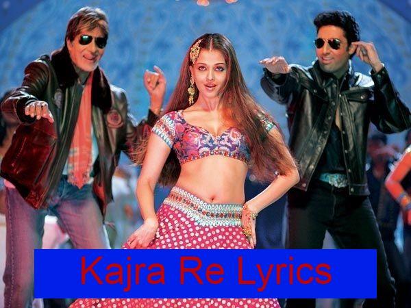 Kajra Re Lyrics In Hindi